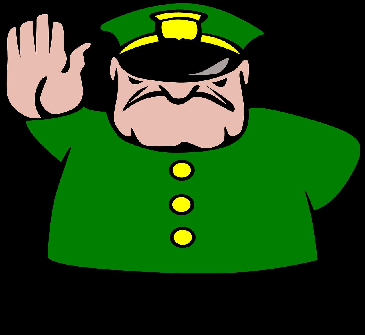 שוטר במחסום