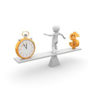 שעון איש וסימון של כסף